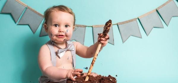 Cake Smash Photographer Leeds | Chocolate Cake Smash
